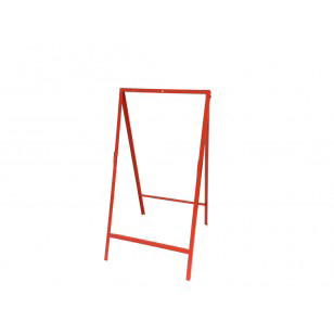 folding orange square frame sign stand acure safety