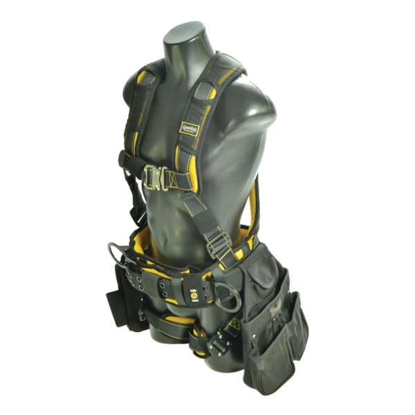 cyclone construction harness with pouches - acure safety