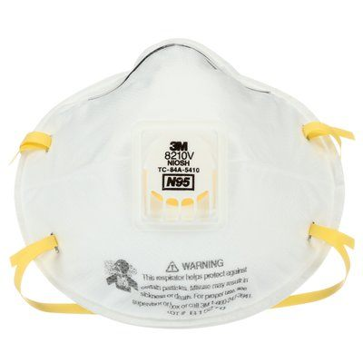 10 X N95 8210v Respirator 3m With Valve